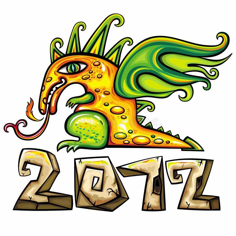 Download Dragon emblem 3 stock vector. Image of cartoon, card - 22034288