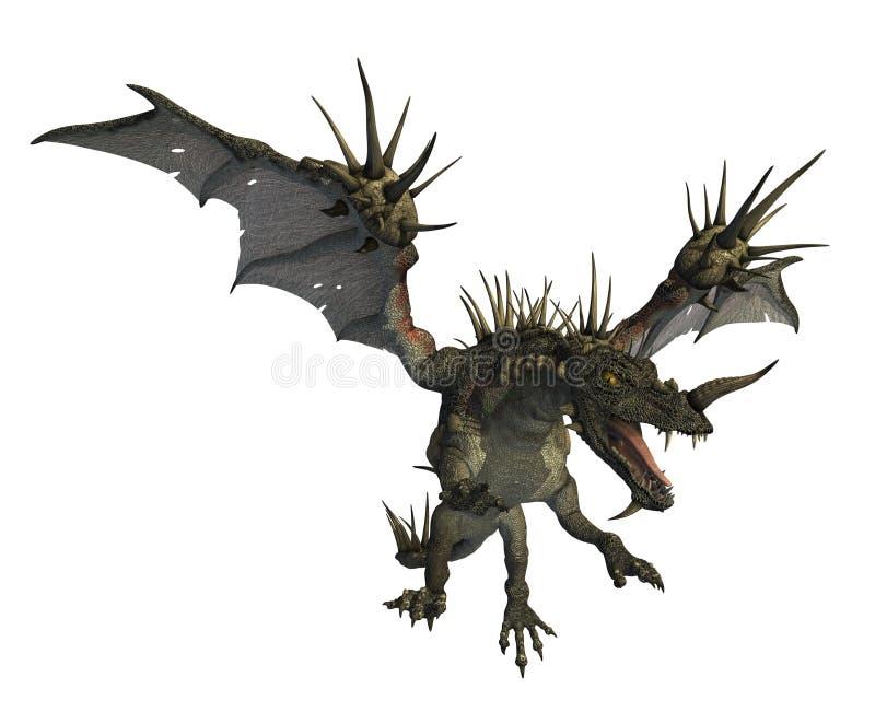 Dragon en épi pilotant 2 illustration libre de droits