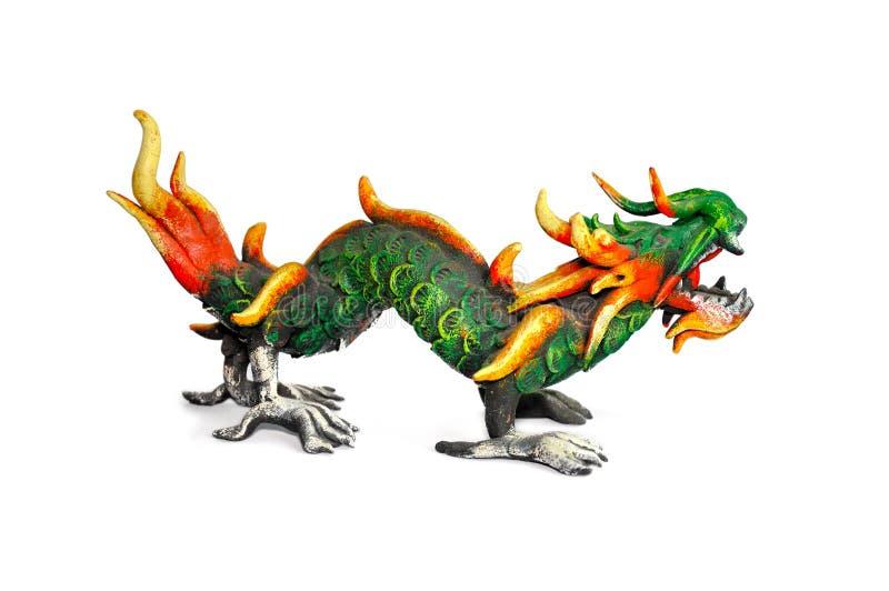 Dragon en bois illustration libre de droits