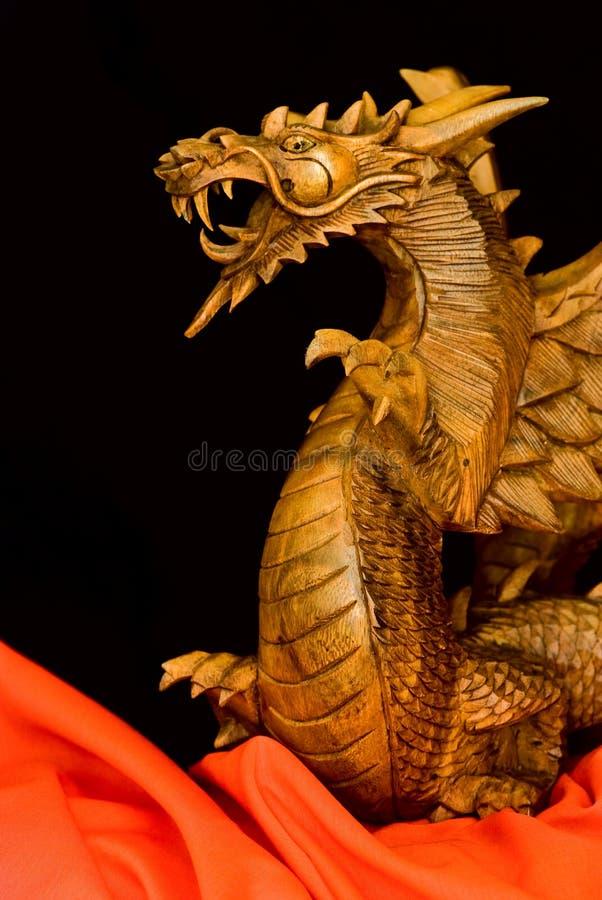Dragon en bois de Balinese photo stock