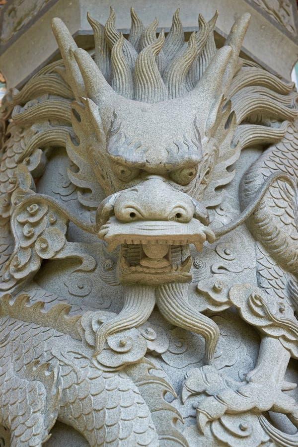 Dragon en pierre photos stock
