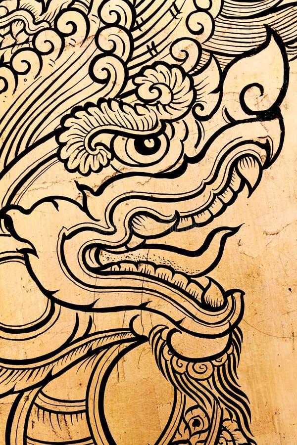 Dragon engraving