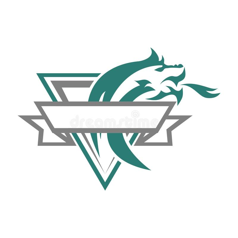 Dragon Esport Vintage Logo illustration libre de droits