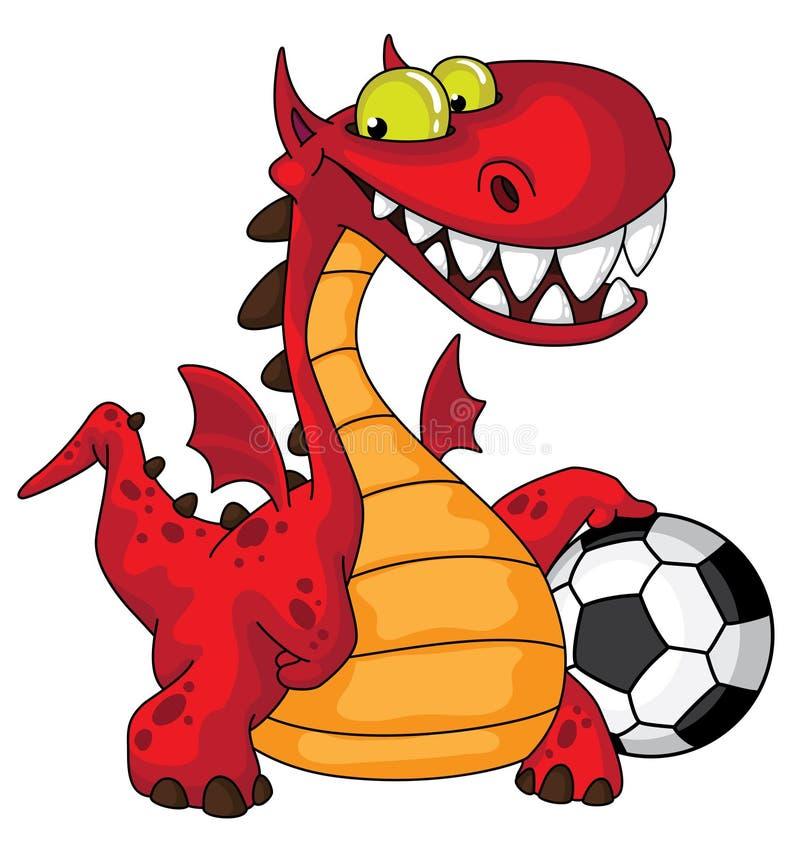 Dragon et bille illustration stock