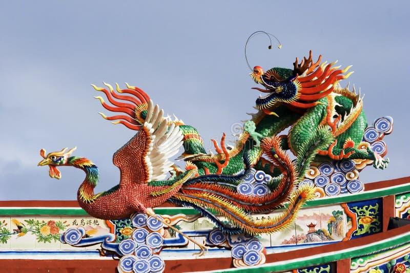 Dragon et Phoenix photographie stock libre de droits