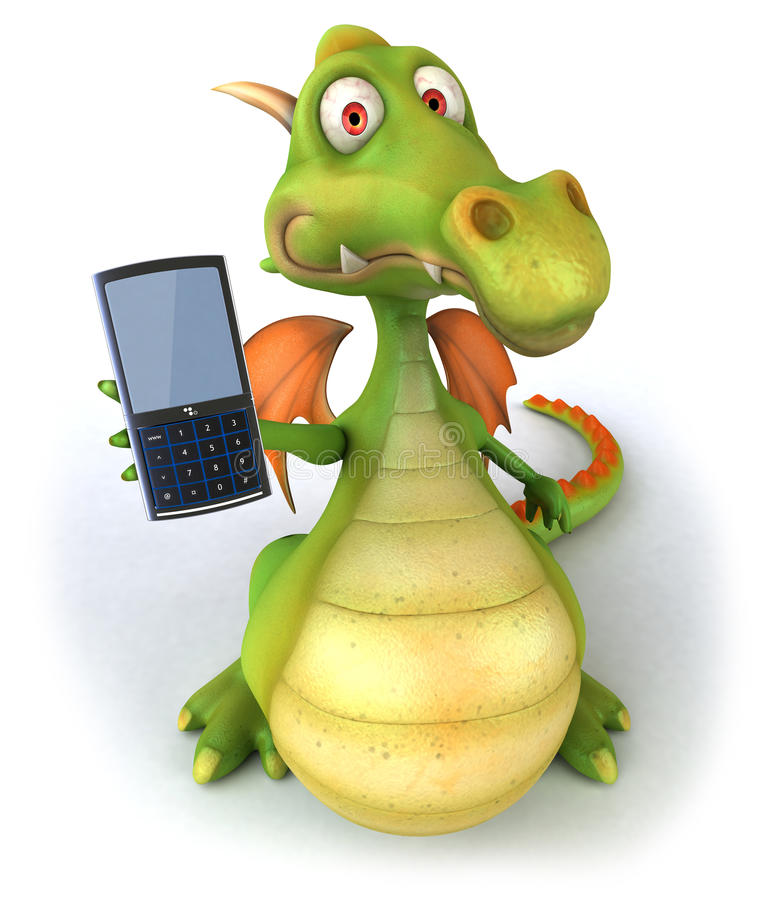 Dragon et téléphone portable illustration libre de droits