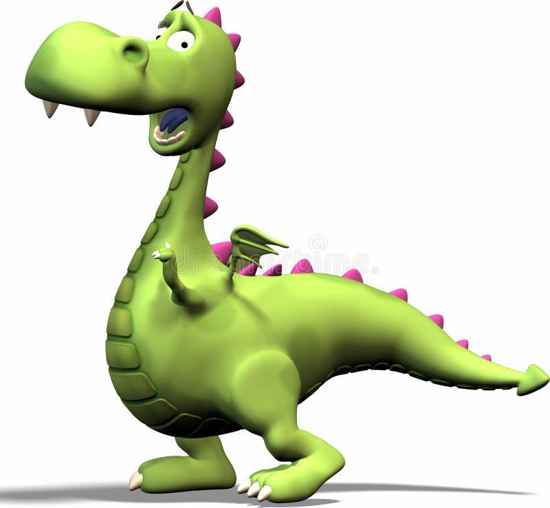 Dragon Excited illustration de vecteur