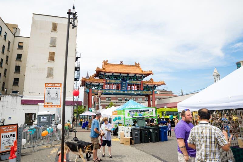 Dragon Fest Chinatown Seattle Washington imagem de stock royalty free