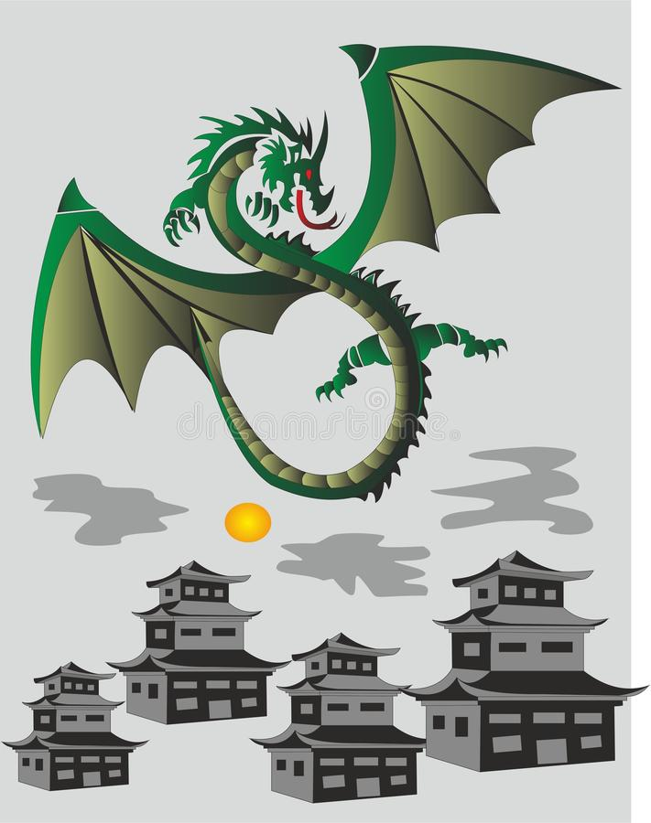 Dragon Festival In China ilustração do vetor