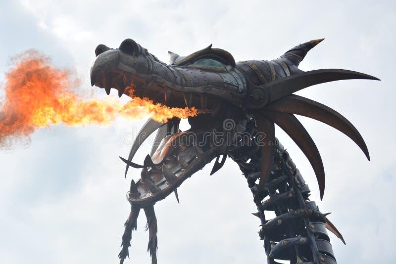 Dragon fire royalty free stock photos