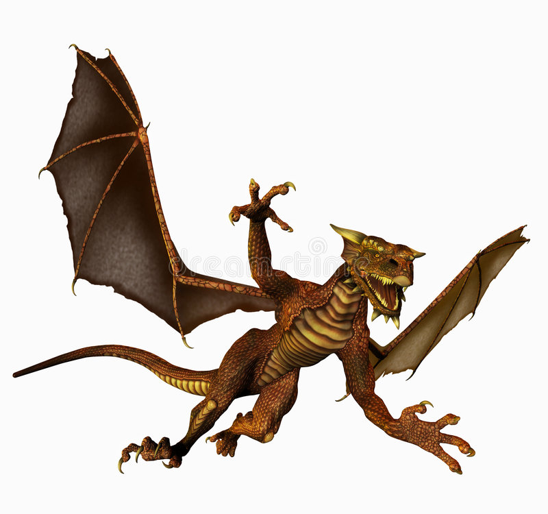 Dragon In Flight Royalty Free Stock Image