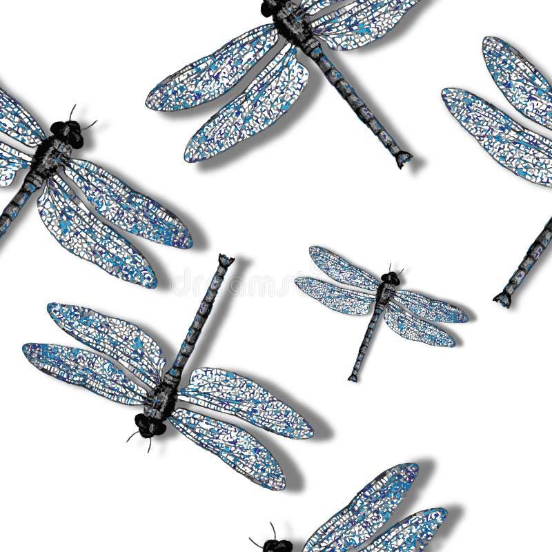 Dragon Fly Pattern Royalty Free Stock Photo