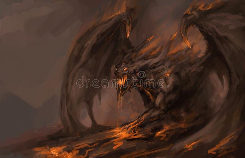Dragon fondu de roch illustration libre de droits