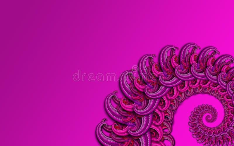 Dragon fractal in violet royalty free stock image