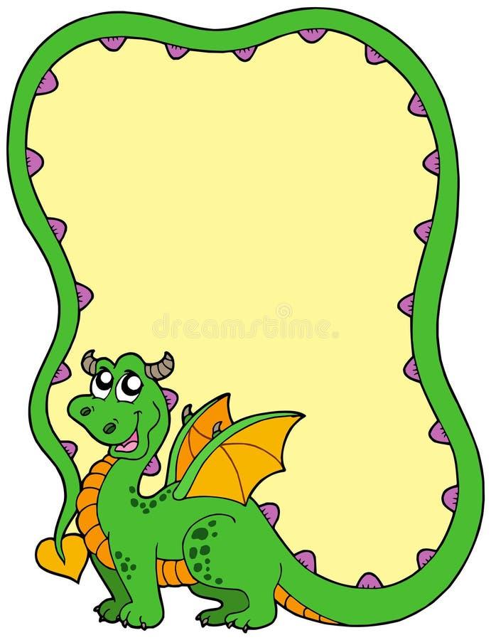 Download Dragon frame stock vector. Image of blank, dragon, design - 10702216