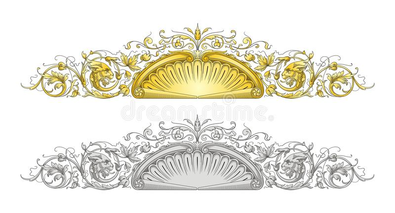Dragon Frame Ornament vector illustration