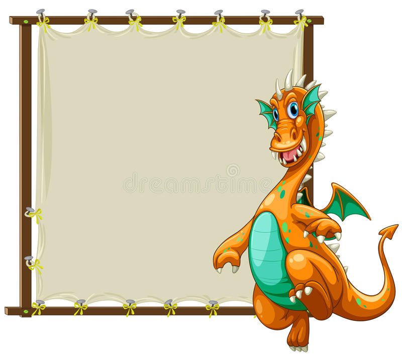 Download Dragon And Frame Stock Vector Illustration Of Board