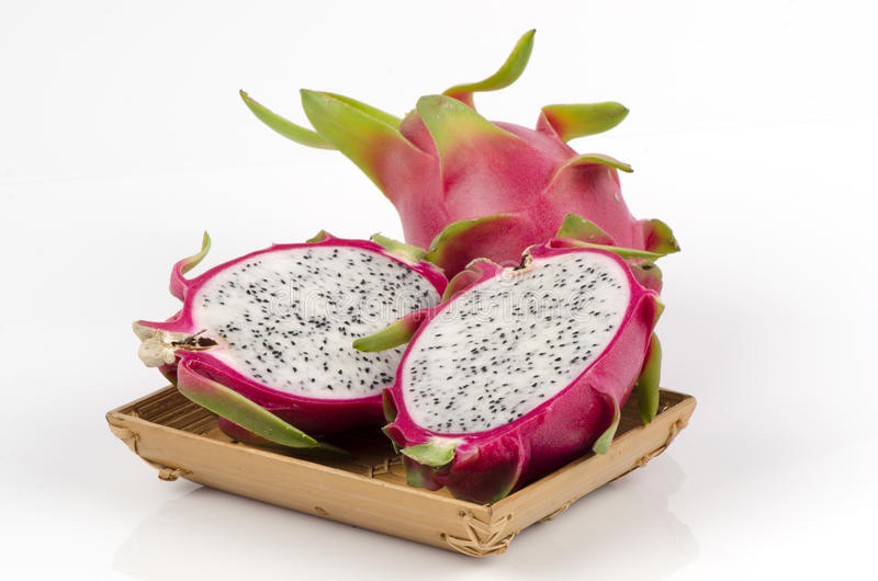 Dragon fruit (Hylocercus undatus (Haw) Britt. & Rose.) royalty free stock photo