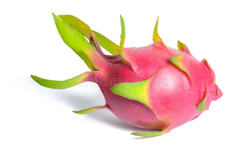 Dragon fruit pitahaya or pitaya fresh and juicy lying on its side looks like a fish. Isolated on white royalty free stock photos