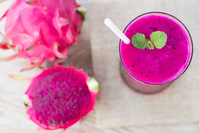 Dragon fruit smoothie royalty free stock photo