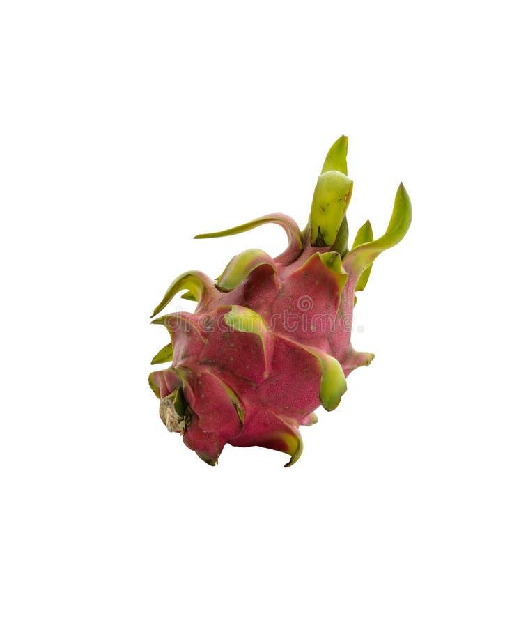 Dragon Fruit tegen witte achtergrond wordt geïsoleerd die royalty-vrije stock afbeelding