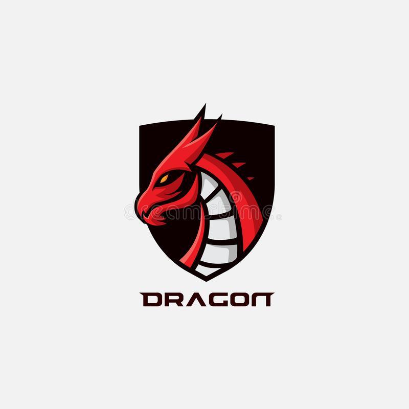 Dragon gaming logo stock photo