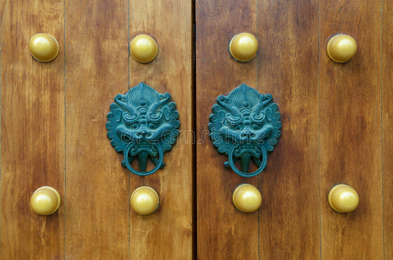 Dragon Gate Door Handle stock photos