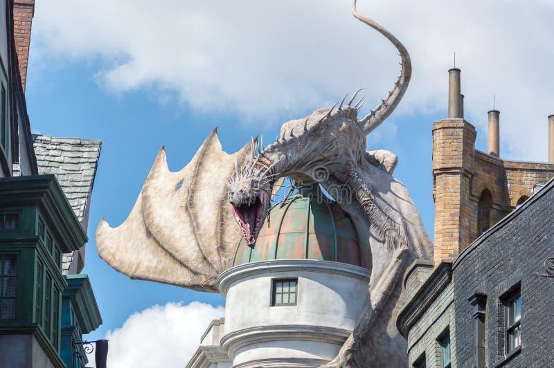 Dragon Gringotts Bank imagen de archivo libre de regalías