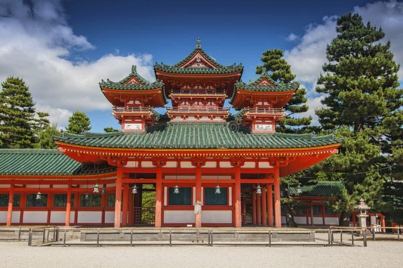 Dragon Hall at Heian jingu Shrine in Kyoto, Japan stock photos