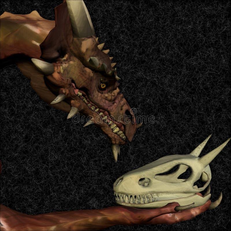 Dragon Hamlet royalty free illustration