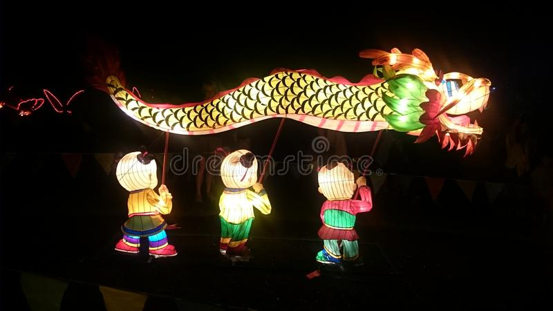 Dragon Handmade Chinese Lantern imagen de archivo