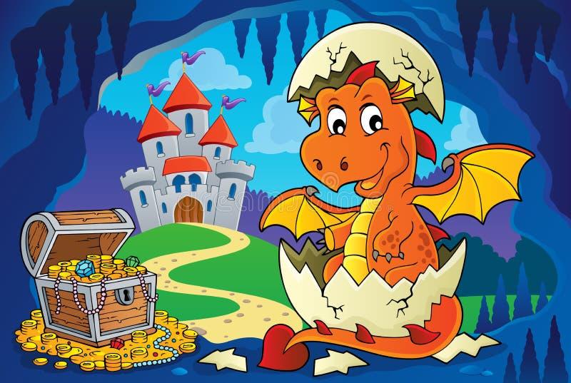Dragon hatching from egg image 4. Eps10 vector illustration stock illustration