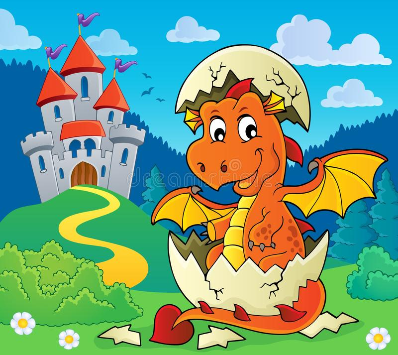 Dragon hatching from egg image 5. Eps10 vector illustration royalty free illustration