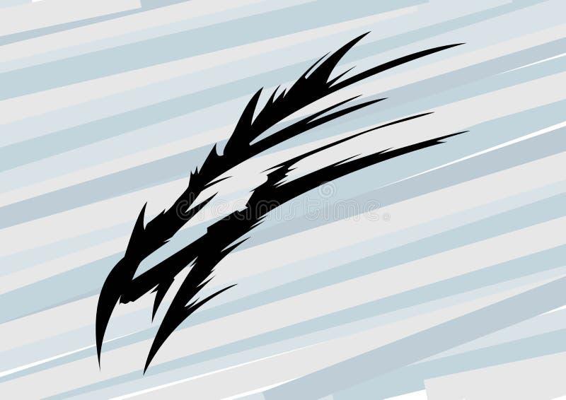 Dragon Head abstrato, gráficos de vetor do t-shirt ilustração stock