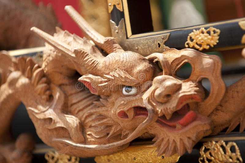 Dragon head close-up, Japan stock image