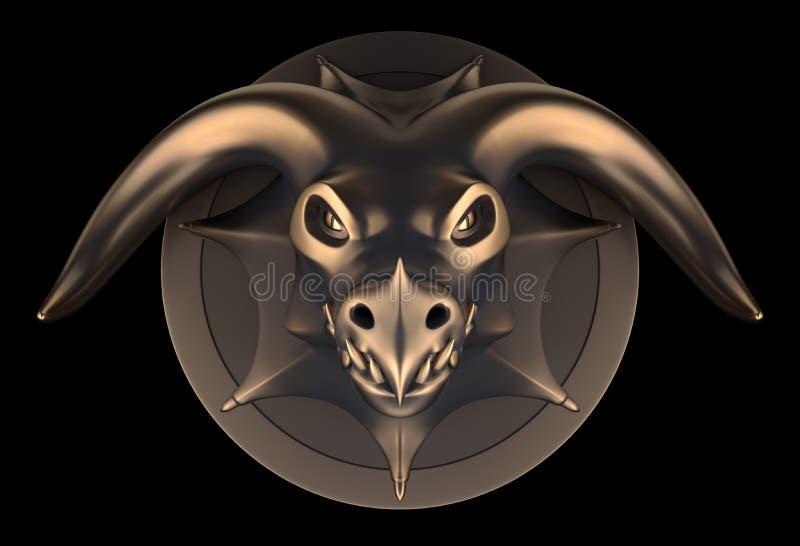 Dragon Head Concept vector illustration