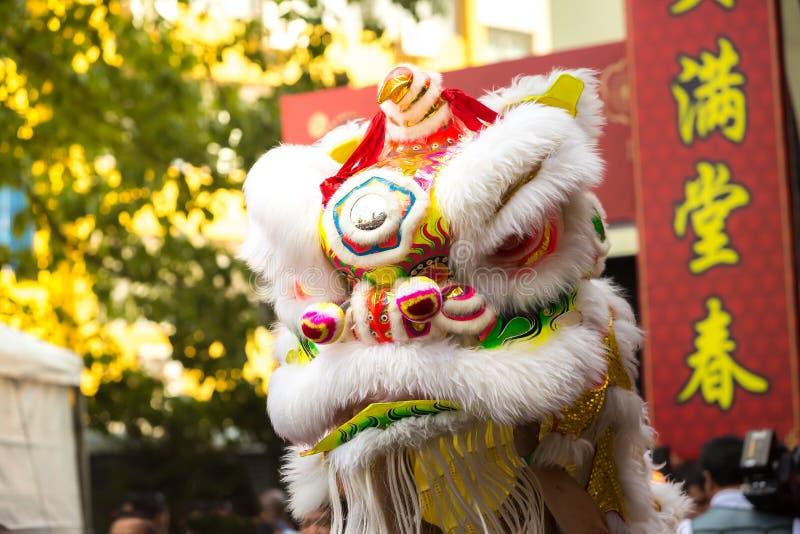 Dragon Head in der Feier des Chinesischen Neujahrsfests stockbilder