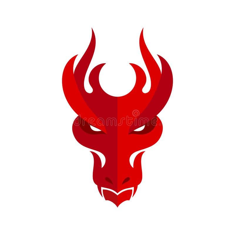 Dragon Head Icon ilustração royalty free