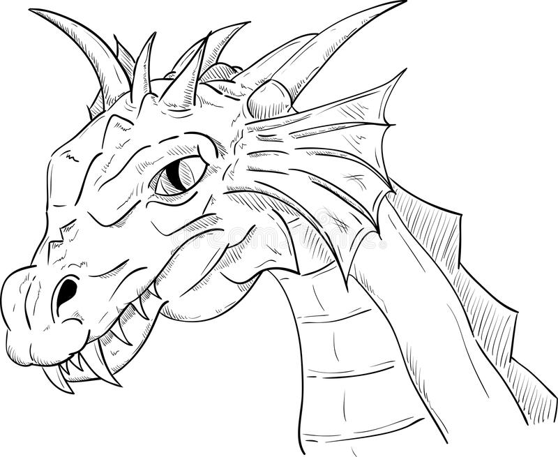 Dragon Head Royalty Free Stock Photography