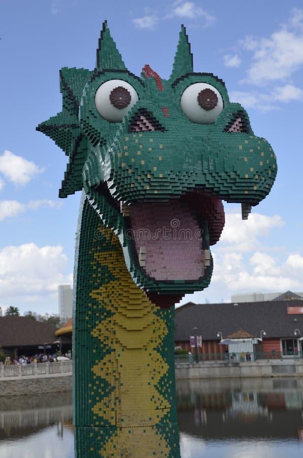 Dragon Head Of Legos At Downtown Disney Editorial Photography ...