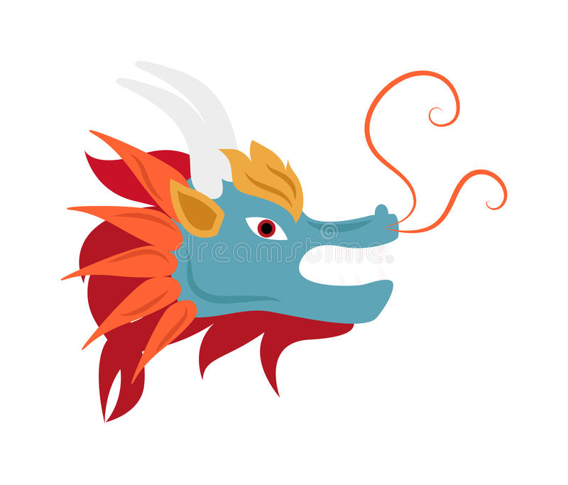 Dragon Head Mascot Mythology Chinese Monster Vector Stock Vector