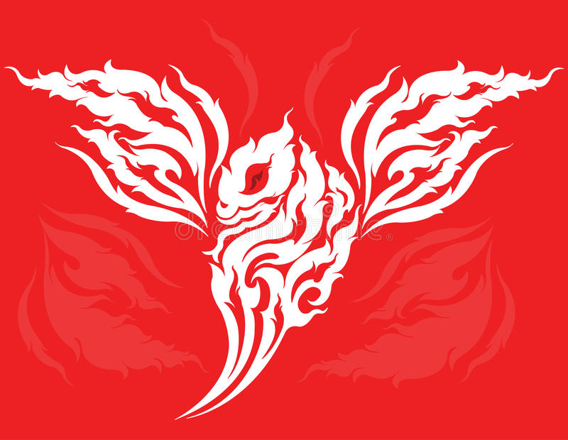 Dragon face tattoo design stock vector  Illustration of view
