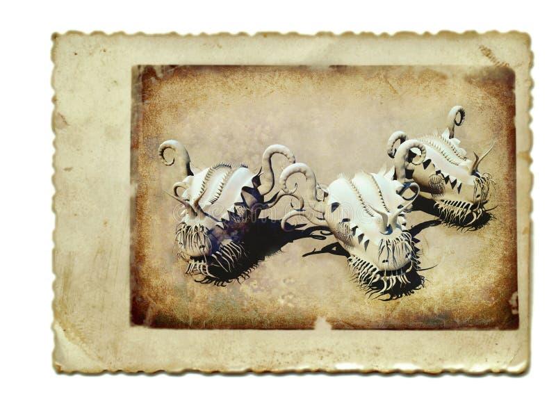 Download Dragon heads stock illustration. Image of artwork, ancient - 23018517