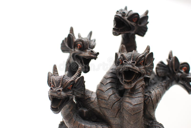 Dragon Heads. On A Statue royalty free stock photos