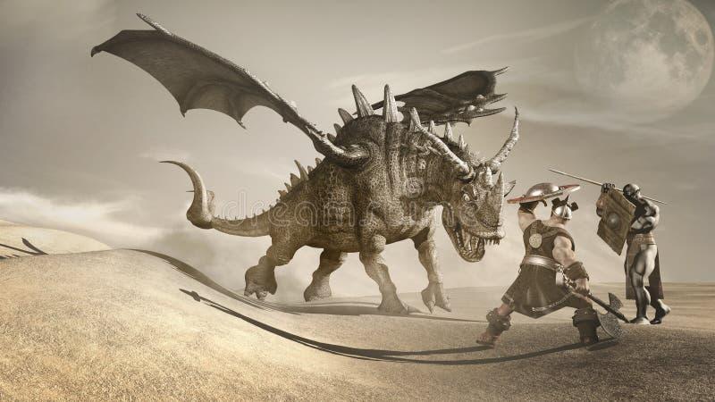 Dragon Hunters stock de ilustración