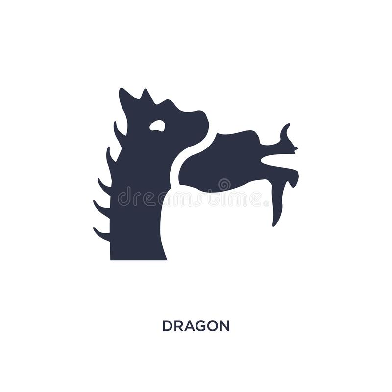 dragon icon on white background. Simple element illustration from asian concept royalty free illustration