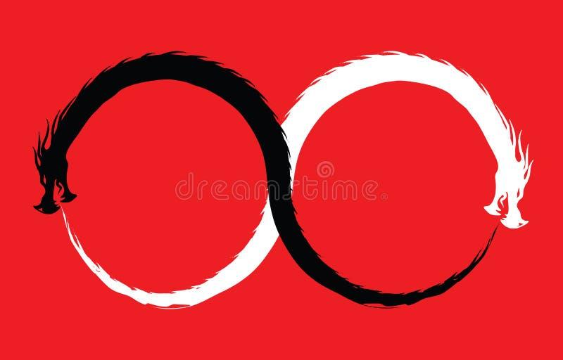 Dragon Infinity Symbol doble ilustración del vector