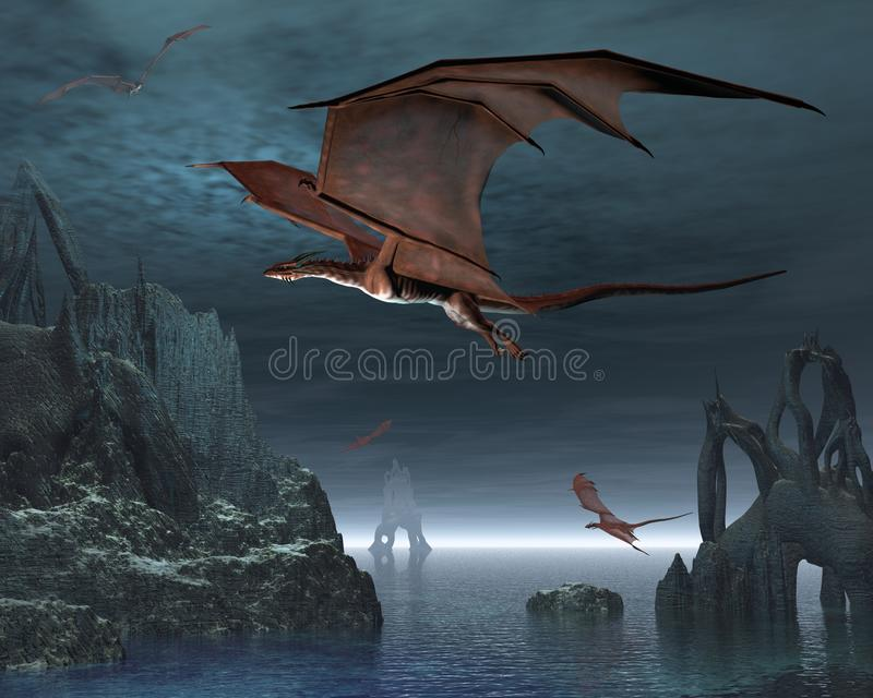 Dragon Islands ilustração stock