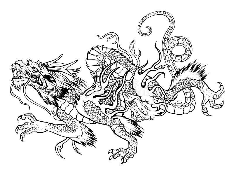 Dragon japonais illustration de vecteur image 51485750 - Dragon japonais ...