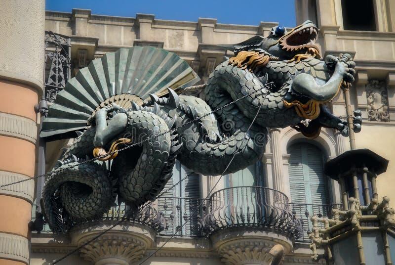 Dragon of La Rambla royalty free stock photos